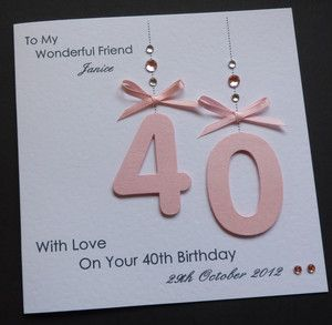 personalised 40th birthday card for daughter ; d3888d0aaa2b24260cb974ecebe1cc74--handmade-birthday-cards-card-birthday