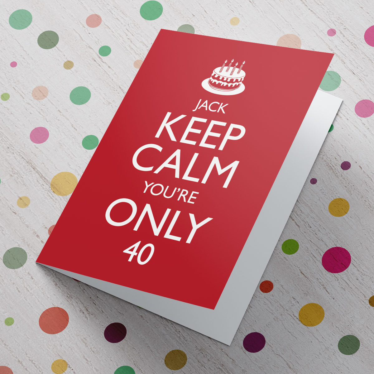 personalised 40th birthday card for daughter ; personalised-keep-calm-card---40th-birthday_a