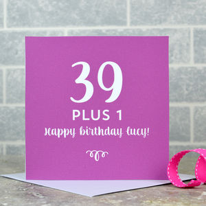 personalised 40th birthday card for daughter ; preview_personalised-40th-birthday-card-1