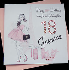personalised 40th birthday card for daughter ; s-l225-1