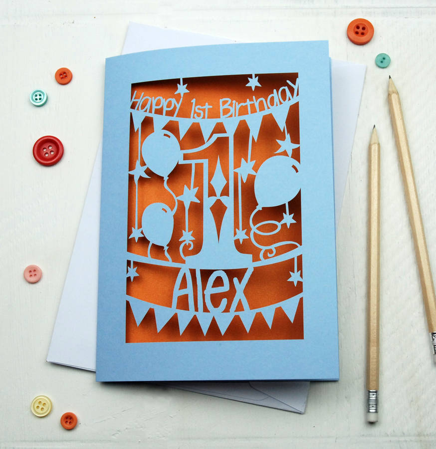 personalised bday cards ; original_personalised-first-birthday-card