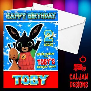 personalised bing birthday card ; s-l300-10