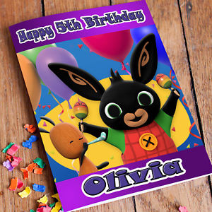 personalised bing birthday card ; s-l300-11
