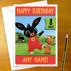 personalised bing birthday card ; s-l300-2