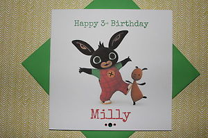 personalised bing birthday card ; s-l300-4
