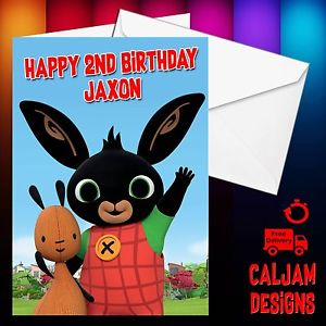 personalised bing birthday card ; s-l300