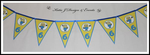 personalised minion birthday banner ; personalised-minion-birthday-banner-40b503be1e752584a2fb7daf4f3520c6