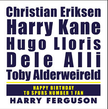personalised spurs birthday card ; s-l225