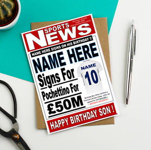 personalised spurs birthday card ; s-l300-2