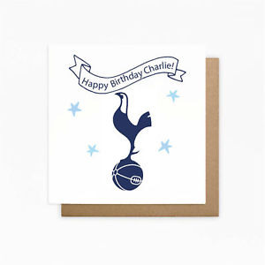 personalised spurs birthday card ; s-l300-5