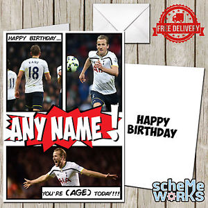 personalised spurs birthday card ; s-l300
