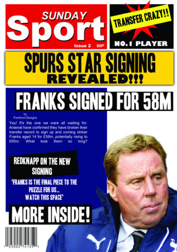 personalised spurs birthday card ; s-l500