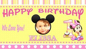 personalized birthday banners for 1st birthday ; s-l300-1