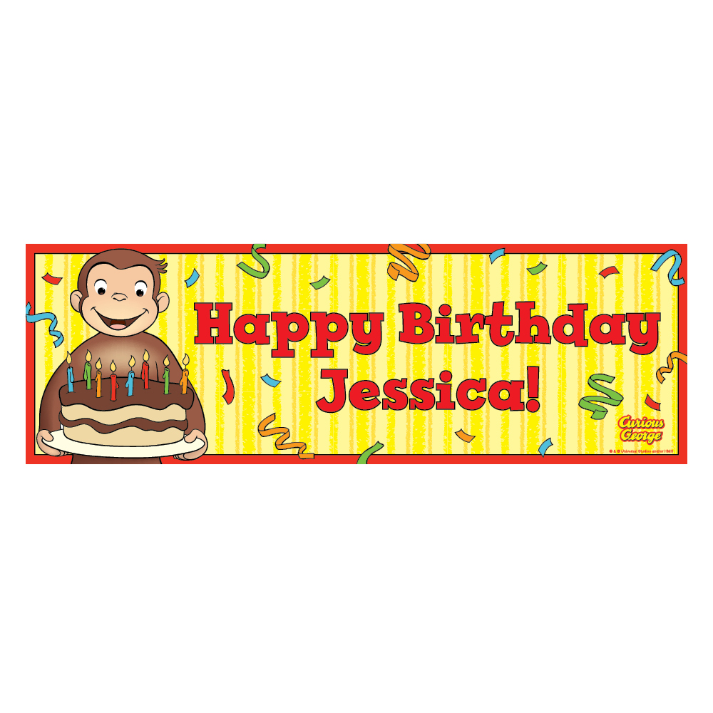 personalized happy birthday banner ; CUG-2800-CG001