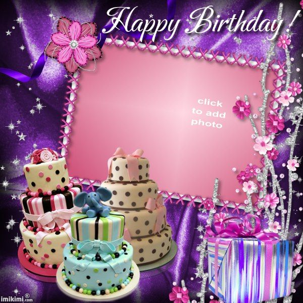 personalized happy birthday picture frame free ; birthday-cake-photo-frame-25-best-free-birthday-cards-images-on-pinterest-anniversary-cards