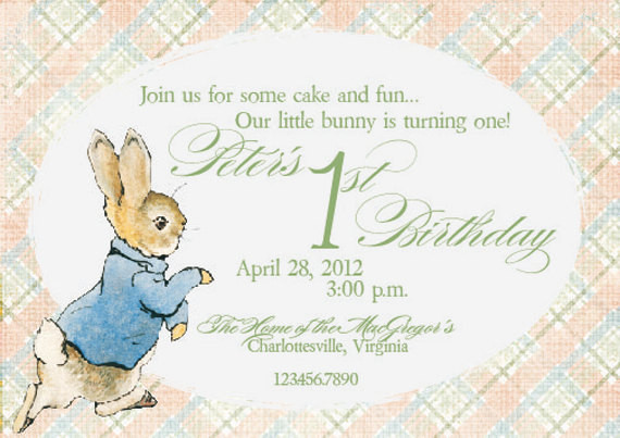 peter rabbit first birthday card ; 1st-birthday-invitation-card-new-my-peter-rabbit-invites-on-etsy-in-a-fresh-peachy-color-scheme-stock-of-1st-birthday-invitation-card