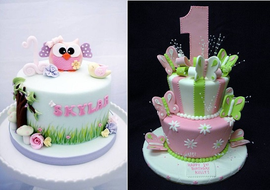 photo birthday cake designs ; First-birthday-cakes-by-the-GoGoSugar-Company-left-and-by-Angel-Contreres-via-Flickr-right
