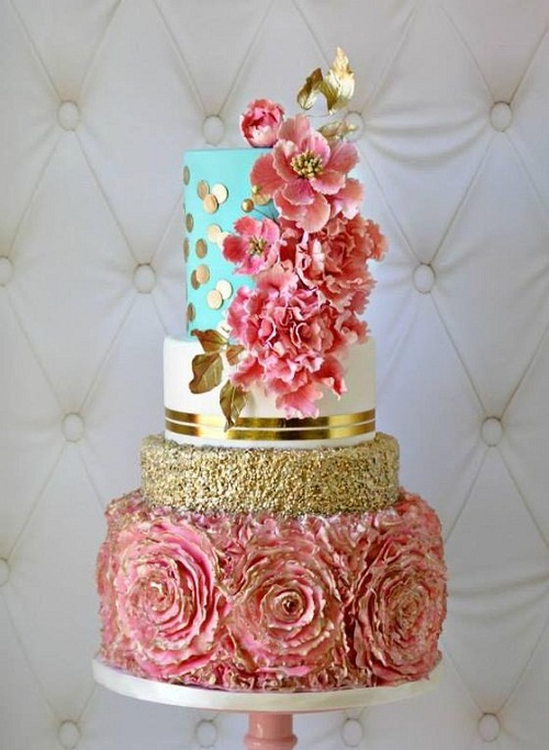 photo birthday cake designs ; lovely-images-of-birthda-cakes-with-gold-and-flower-designs