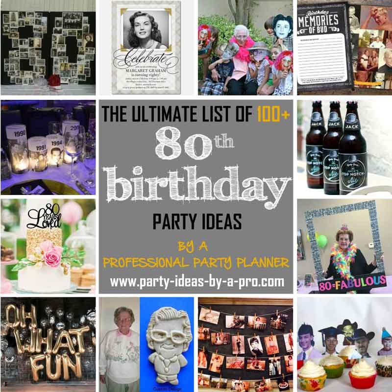 picture collage ideas for birthday party ; x80thbirthdaypartyideas