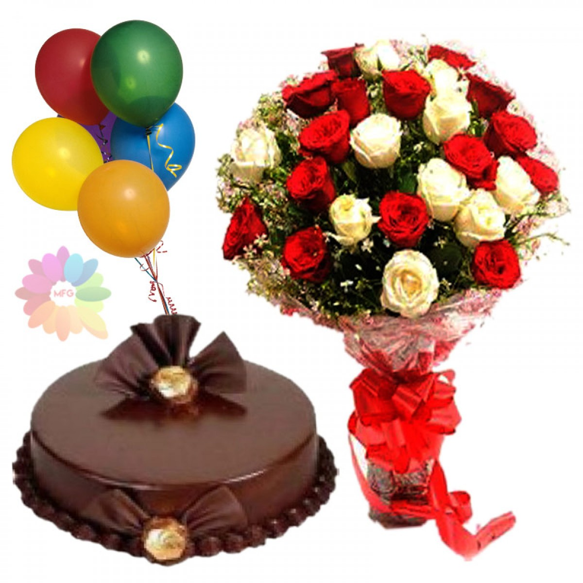 picture of birthday cake and balloons ; 14_4