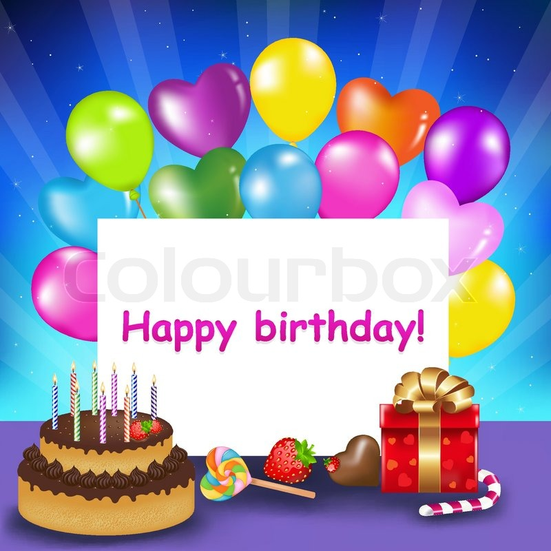 picture of birthday cake and balloons ; 800px_COLOURBOX3174240