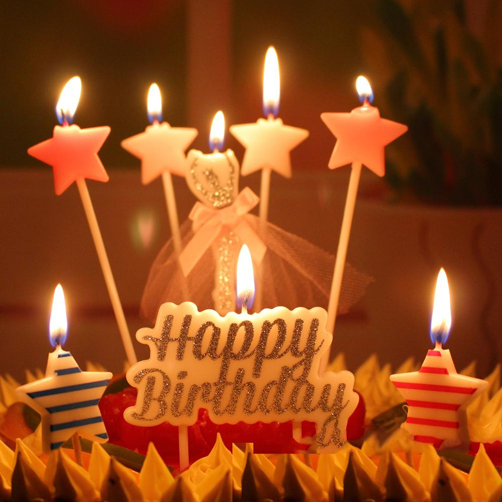 picture of birthday cake and candles ; 1-set-6-design-birthday-cake-candles-safe