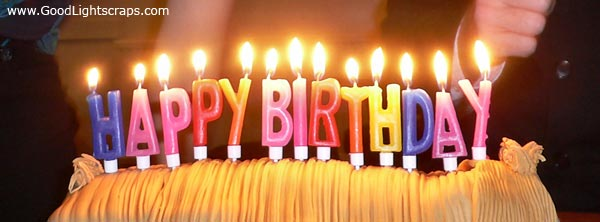 picture of birthday cake and candles ; birthday-cake-candles-1