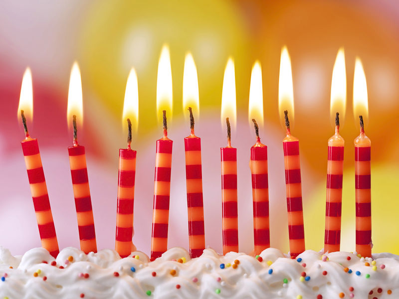 picture of birthday cake and candles ; birthday_candles_shutterstock_129666245-1501600084-5033