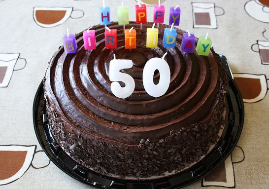 picture of birthday cake with 50 candles ; 1cf8a58c953bcc1597a9a020f5512a22