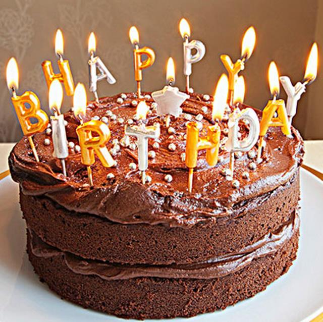 picture of birthday cake with 50 candles ; 50-Sets-Popular-Birthday-Cake-Decoration-Home-Party-Use-Ideal-Gold-Silver-HAPPY-BIRTHDAY-Candle-Baby