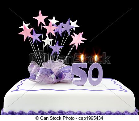 picture of birthday cake with 50 candles ; 50th-cake-stock-photo_csp1995434