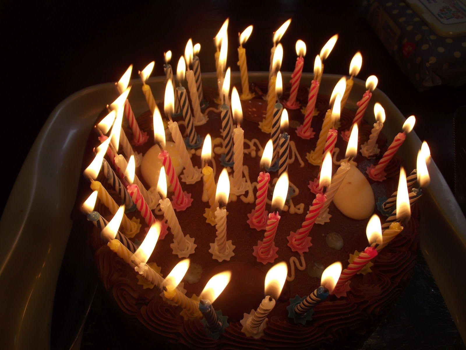 picture of birthday cake with 50 candles ; 6746f94794127a2c96c280571d0e6415