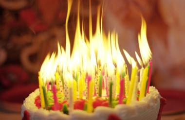 picture of birthday cake with 50 candles ; 78399628
