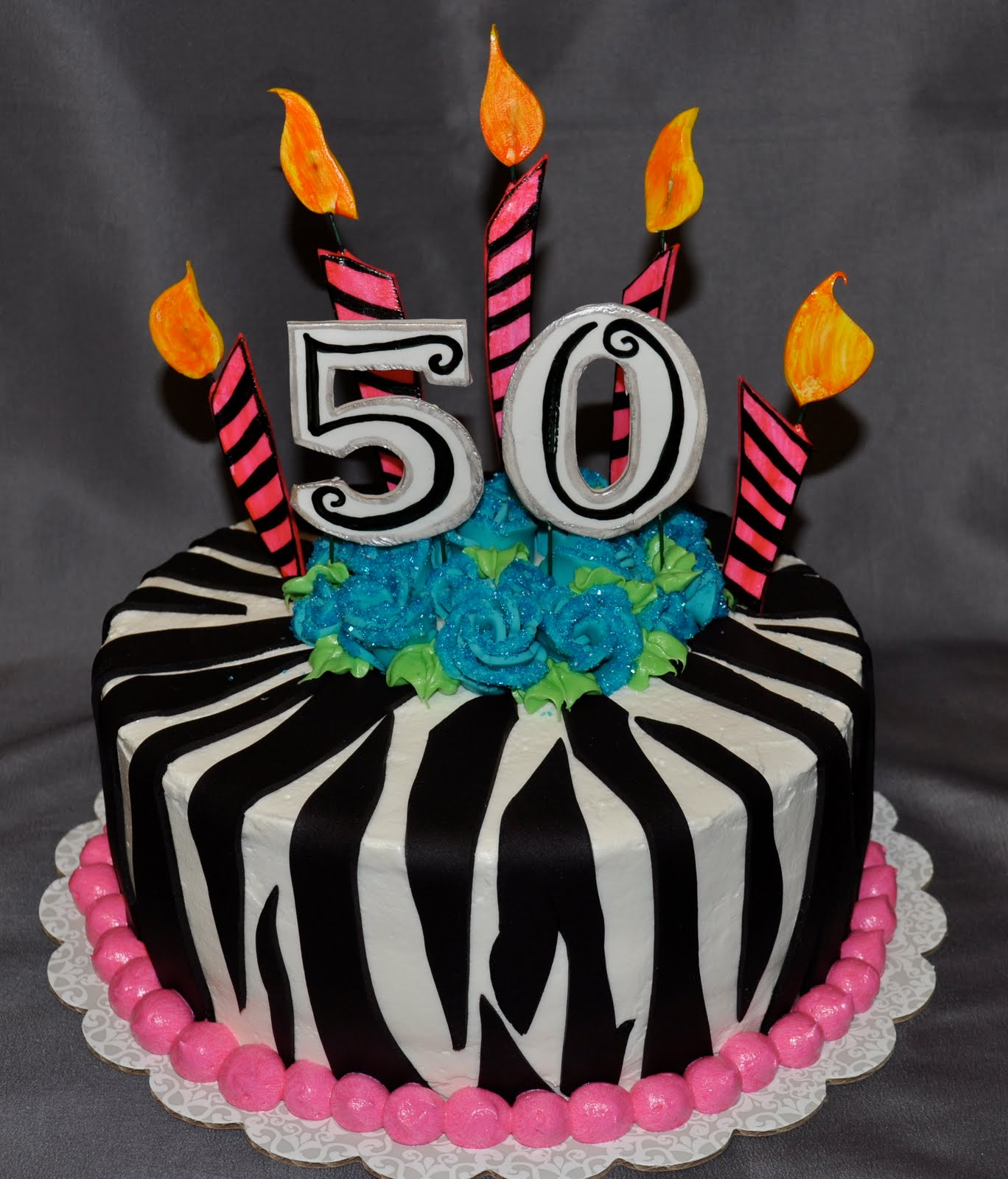 picture of birthday cake with 50 candles ; DSC_1291
