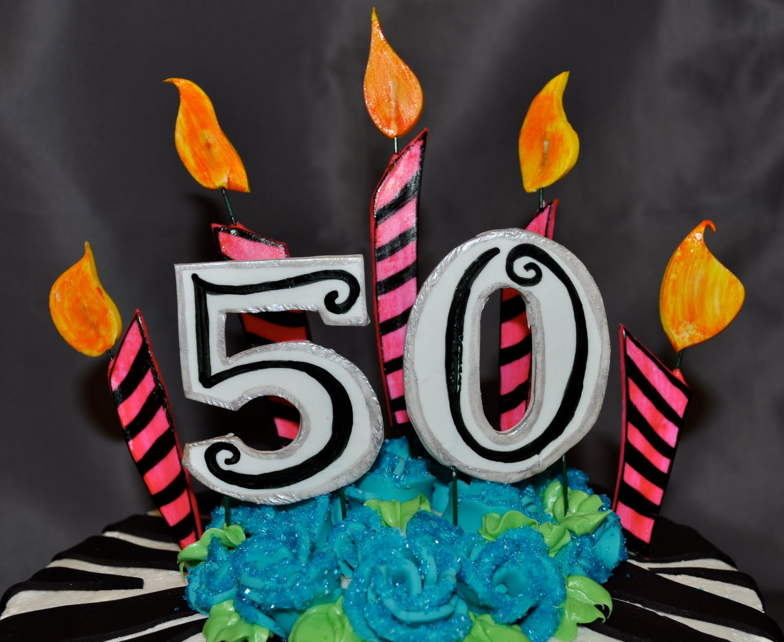 picture of birthday cake with 50 candles ; DSC_1294