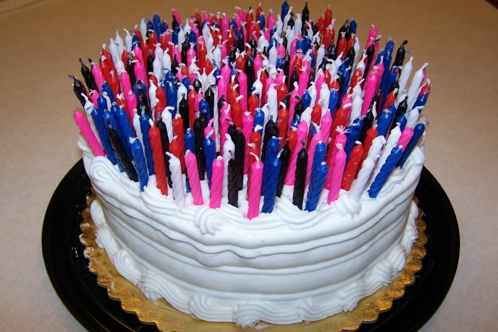 picture of birthday cake with 50 candles ; birthday-cake-lots-of-candles-4