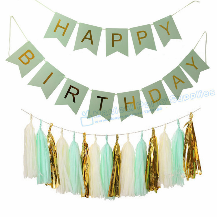 pink and green happy birthday banner ; 5-Sets-Fairy-Birthday-Banner-Foil-Gold-Happy-Birthday-Party-Girl-s-Pink-Boy-s-Mint-1