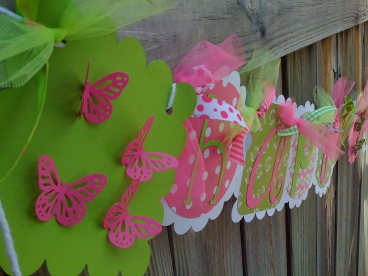 pink and green happy birthday banner ; a5509ae0232b33d03a31b6281132f39e