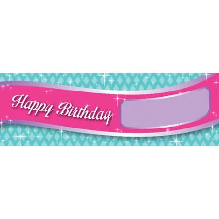 pink and green happy birthday banner ; pack-of-6-pink-purple-and-green-giant-princess-party-banners-with-happy-birthday-and-stickers-60_605754