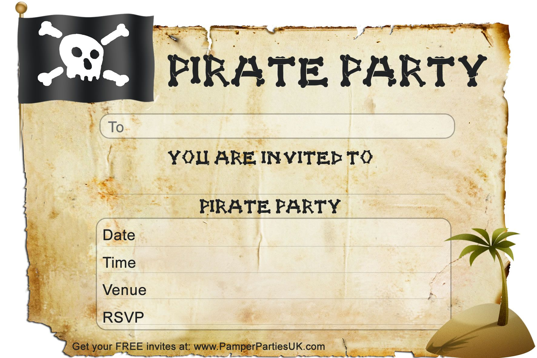 pirate birthday party invitation template free ; Efbeedfcdbadcad-New-Pirate-Birthday-Invitations-Template