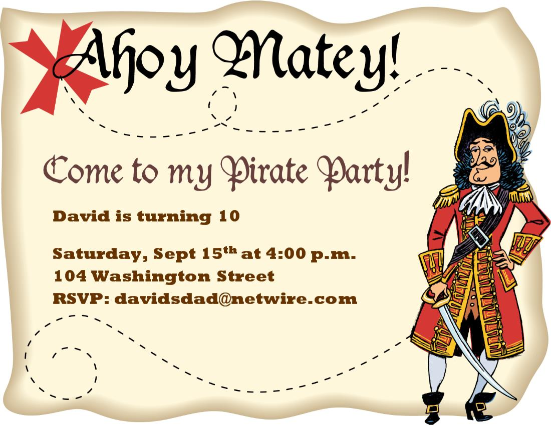 pirate birthday party invitation template free ; free-pirate-map-invitation-template_557574