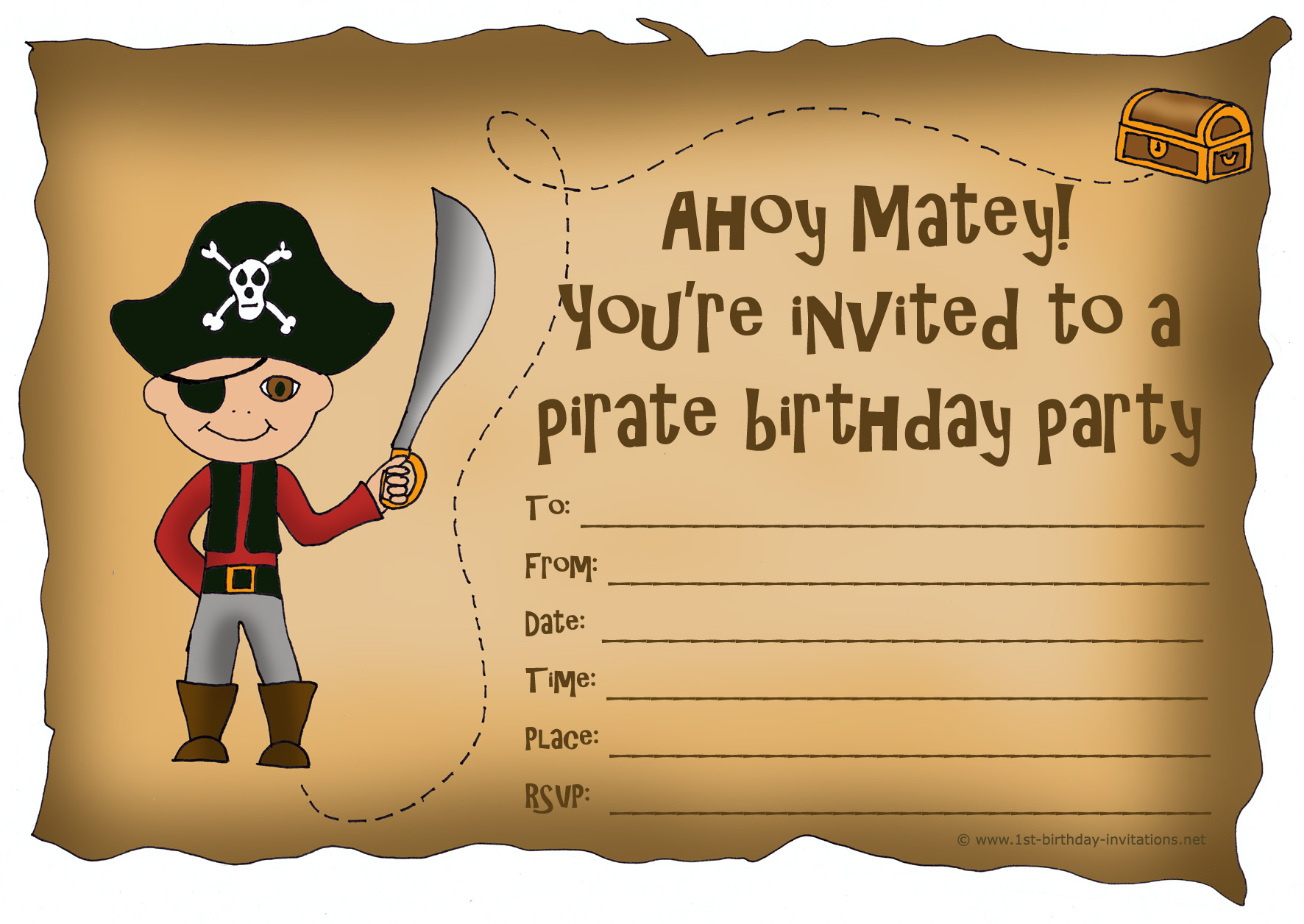 pirate birthday party invitation template free ; pirate-birthday-invitations-and-elegant-invitations-fitting-aimed-at-giving-pleasure-to-your-Birthday-Invitation-Templates-19