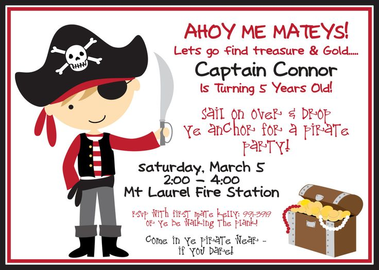pirate birthday party invitation template free ; pirate-invitation-template-132-best-kid-birthday-party-ideas-images-on-pinterest-birthdays