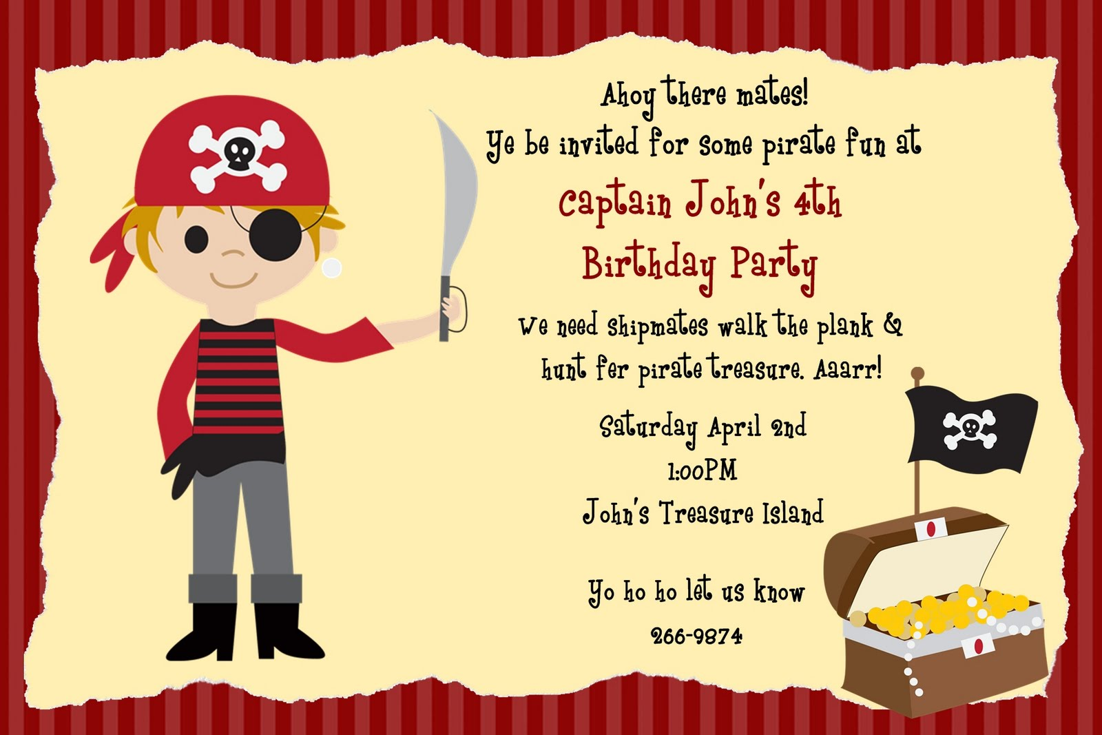 pirate birthday party invitation template free ; pirate-invitation-template-i-on-pirate-party-invitation-template-free-printable-pirates-birthday