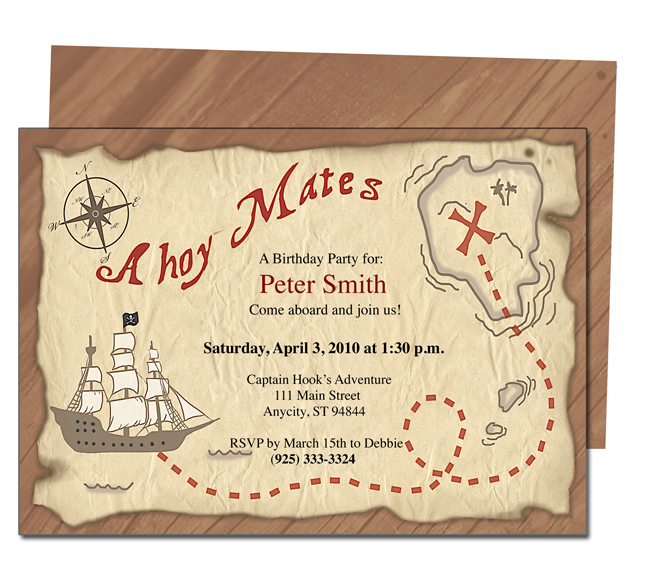 pirate birthday party invitation template free ; pirate-party-invitation-templates-free-printable-pirates-birthday-party-invitations-drevio-templates