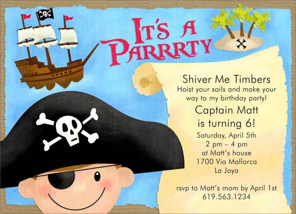 pirate birthday party invitation template free ; pirate-party-invitation-templates-pirate-party-invitations-2017-thewhipper-free