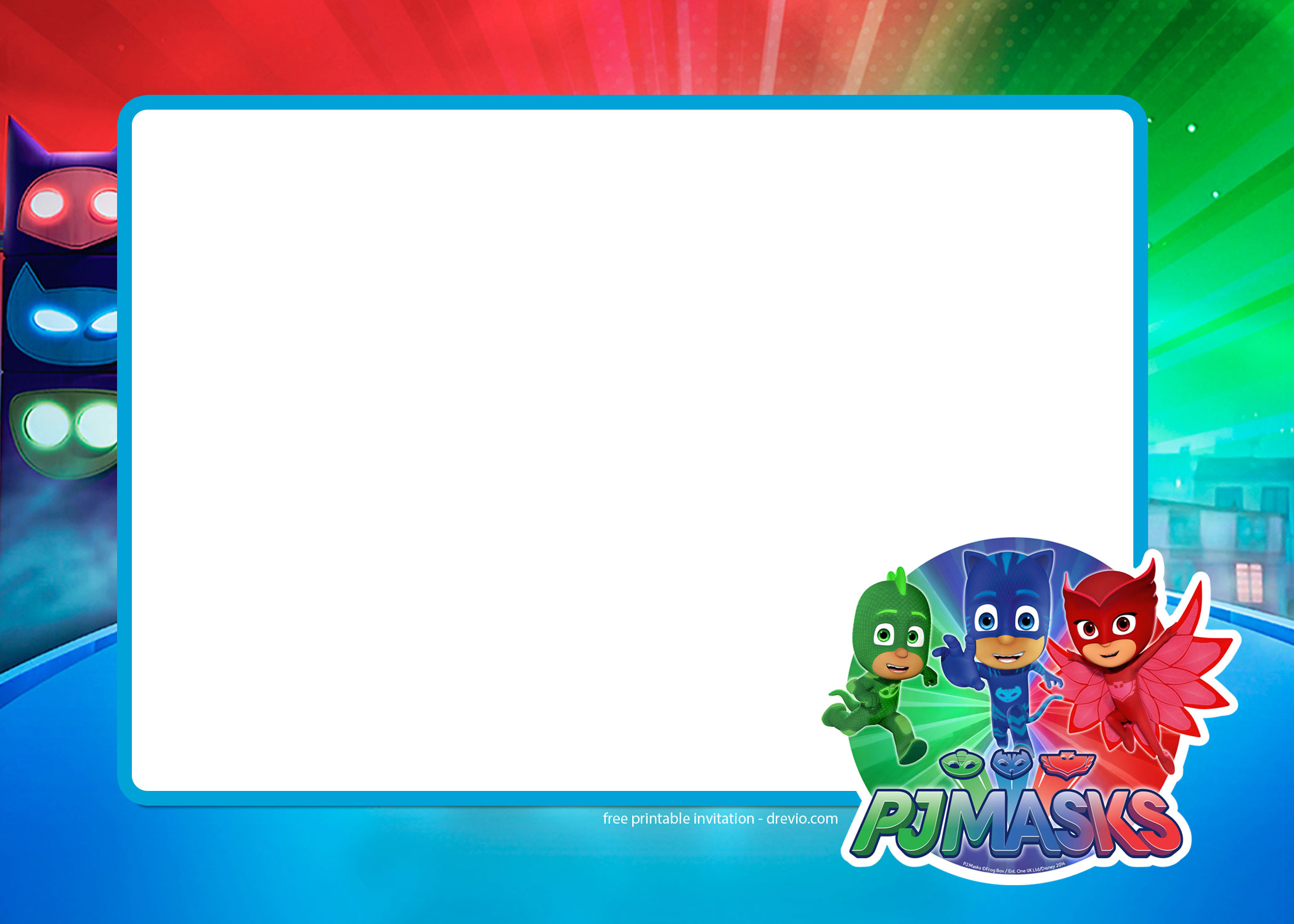pj masks birthday invitation template ; FREE-Printable-PJ-Masks-Invitation-Templates-all-characters