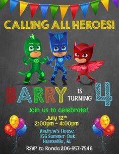 pj masks birthday invitation template ; c32b7b6bea79361b091c4d9a258c750b--pj-mask-birthday-invitations-pj-masks-birthday-cake