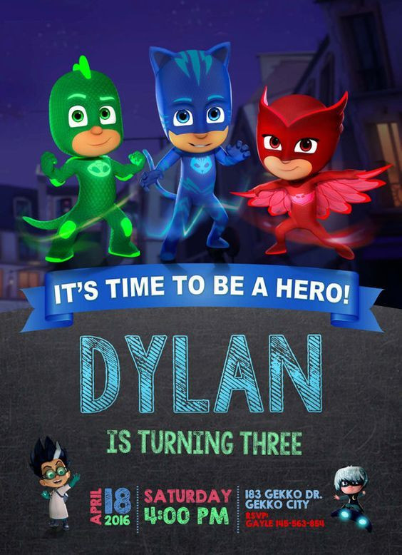 pj masks birthday invitation template ; pj-masks-invitation-template-free-beautiful-27-best-pj-masks-birthday-party-images-on-pinterest-of-pj-masks-invitation-template-free