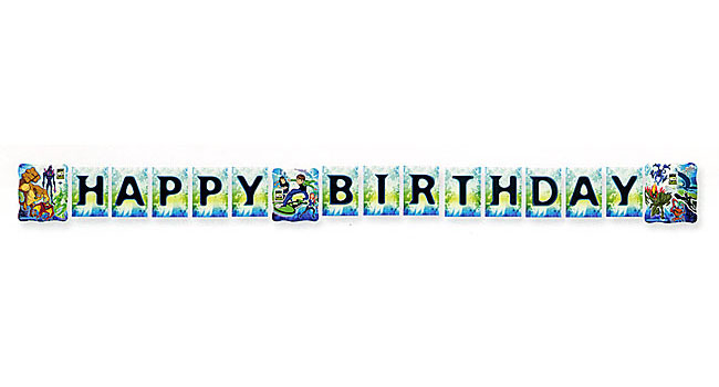 plastic birthday banners ; 1hng2458